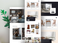 Luxurious furniture ecommerce home page