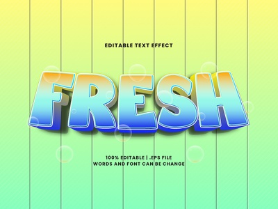 Fresh Text Effect typesetting fresh text effect typography lettering headline font effect editable text editable font alphabet 3d text