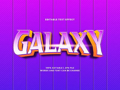 Galaxy Text Effect lettering typesetting headline font effect galaxy text effect typography editable text editable font alphabet 3d text
