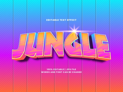 Jungle Text Effect typesetting jungle text effect typography lettering headline font effect editable text editable font alphabet 3d text