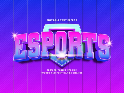 Esports Text Effect typography text effect esports typesetting lettering headline font effect editable text editable font alphabet 3d text