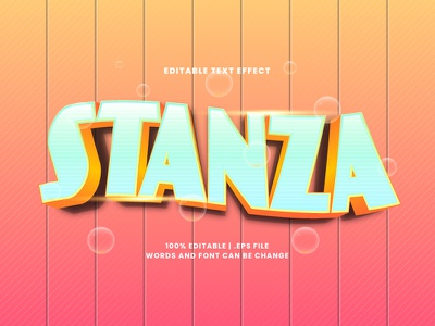 Stanza Text Effect typography text effect stanza typesetting lettering headline font effect editable text editable font alphabet 3d text