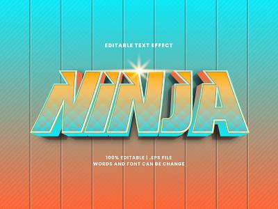 Ninja Text Effect typography typesetting ninja text effect lettering headline font effect editable text editable font alphabet 3d text