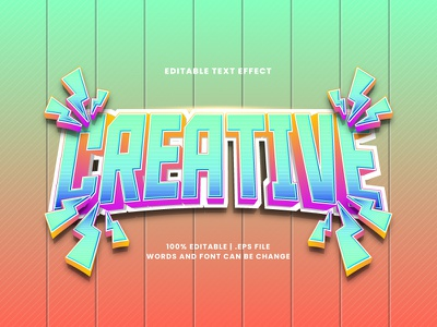 Creative Text Effect typography typesettig text effect creative lettering headline font effect editable text editable font alphabet 3d text