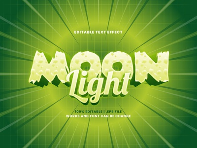 Moon Light Text Effect halloween light moon typesetting typography text effect lettering headline font effect editable text editable font alphabet 3d text