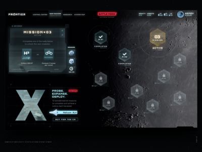 Frontier — Probe. Expanse. Deploy.