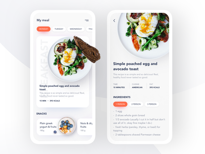 Daily Food app analytic userinterface typography mobile design food app health ux ui ios minimal interface food application app design concept design clean clean ui product design