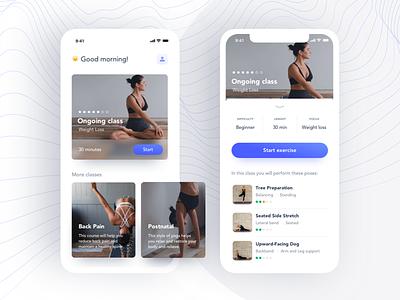 Yoga App namaste accessibility ui  ux minimal clean app design meditate product design likeforlike easy to use clean ui concept design yoga app mobile app mobile design