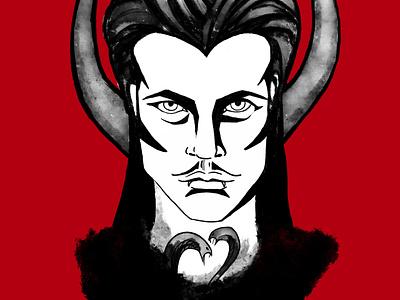 Cute vampire vampire cute gothic dark procreate portrait illustration face drawing