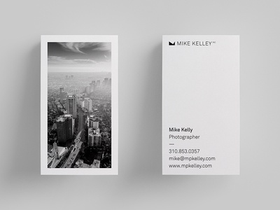 Mike Kelly Inc Photography Business Card