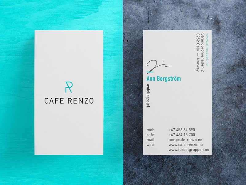 Cafe Renzo Piano Business Card By Nicklas Haslesetad Dribbble