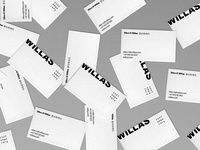 Willas Contemporary Identity — Business Cards