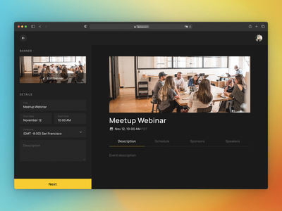 🎙 Virtual events platform visual web ux ui product interaction design app