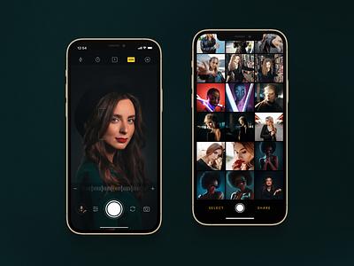 📸 Camera app visual mobile ux ui product interaction design app