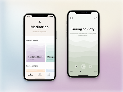 🧘🏻♀️ Mindfulness app mobile app visual ux ui product interaction design