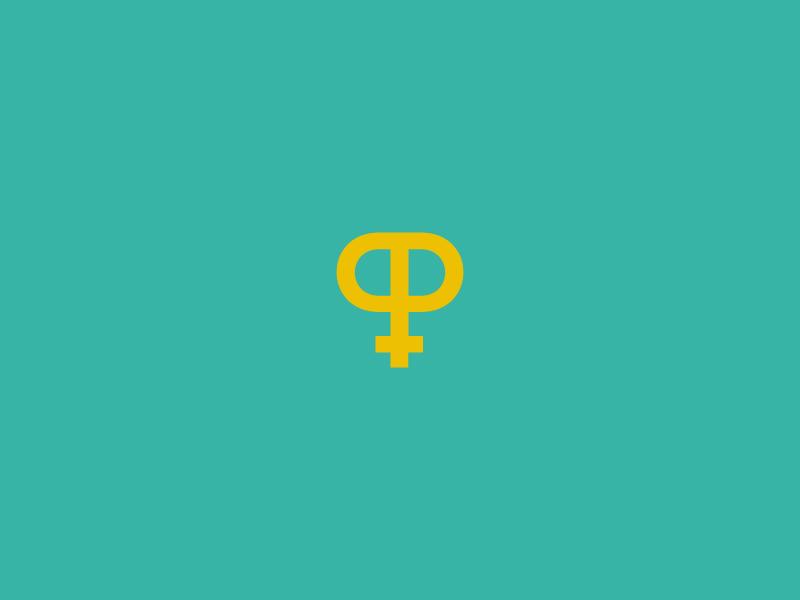 P + Femine symbol logo by Emanuele Abrate on Dribbble