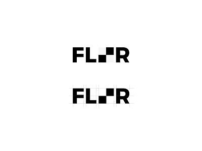 Floor Logo tiles logotype minimal black and white floor trademark logo