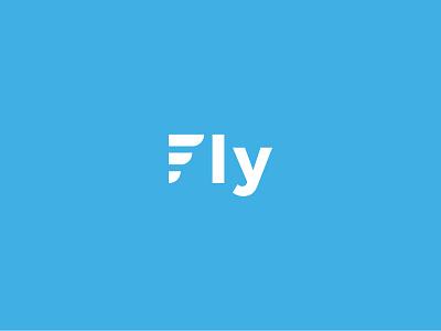 Fly logo design f sans serif minimal blue sky fly monogram logotype mark logo