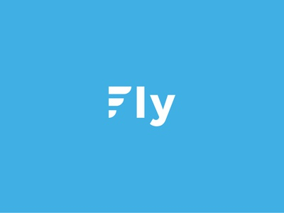 Fly logo design f sans serif minimal blue sky fly monogram logotype mark logo