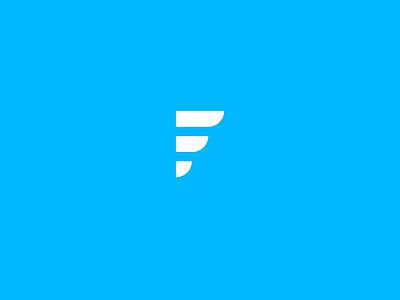 F+wing  type lettering minimal f wing fly monogram trademark logo design logo