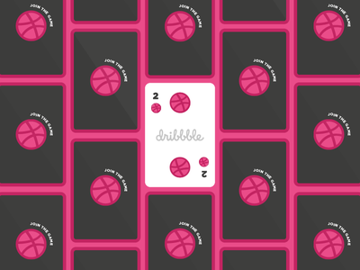 Dribbble invitations graphic design play cards game invite two giveaway invitations dribbble
