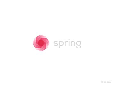 Spring Logo  sun rose flower logo design logo spring