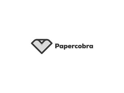 Papercobra logo design minimal print trademark logo design logo cobra paper