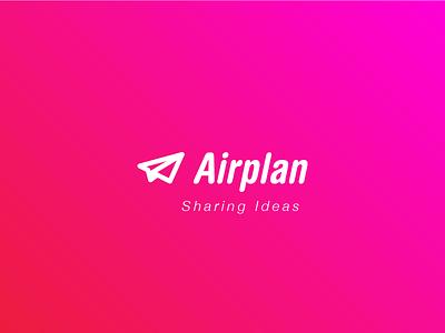 Airplan logo design ideas team cowering workflow tool management project airplan airplane