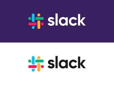 Slack - Logo Redesign octothorpe hashtag brandidentity brand logo design concept logo design redesign logo slack