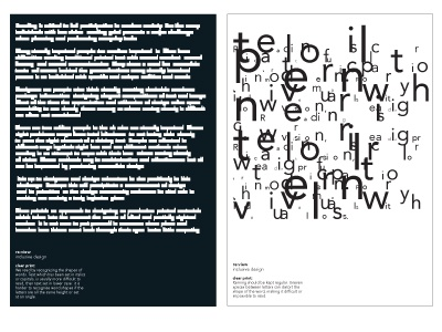 re:view – clear print guidelines posters inclusive design poster