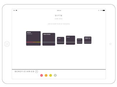 Last Will app infographic data visualisation ux