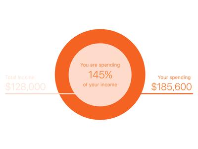 Spending tool infographic data visualisation ux ui