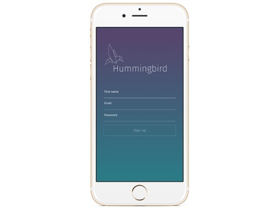 Hummingbird app 001 dailyui for design first my finished just