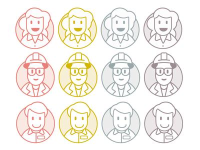 Personas illustration icons