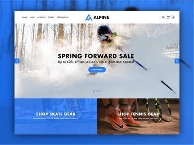 Ski Shop Website Concept