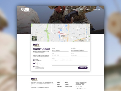 Contact Page Design