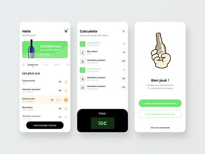 Minimalist bar command green minimalist minimal design app ui