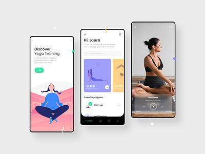 Yoga Challenge iphone uidesign ui meditation yoga design mobile app