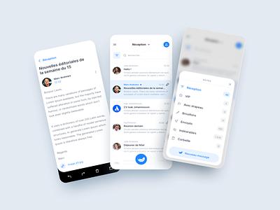 Mail app mail light ui app design app inboxapp inbox