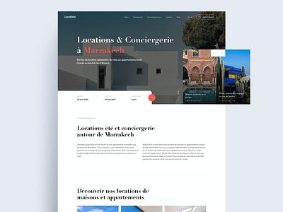 Marrakech Location travel search design website site web desktop