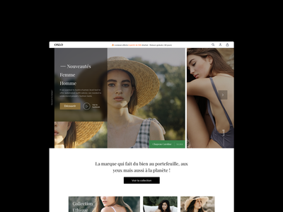 Ecommerce clothing homepage headline design web ui shop ecommerce
