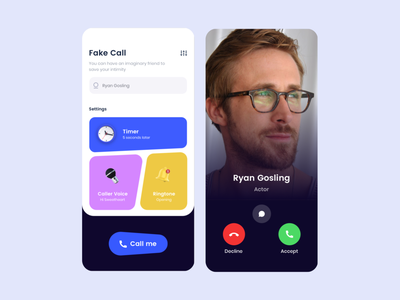 Fake call calling homepage timer video call