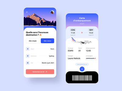 Flight Tracker App Challenge booking book challenge mobile ui travel planer plane flight