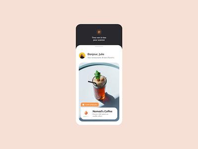 QR code animation scrolling scroll ios mobile ui food restaurant bar barre code qr