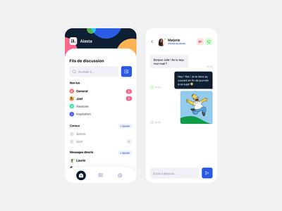 Slack challenge app social conversation messagerie message tchat mobile ios challenge slack