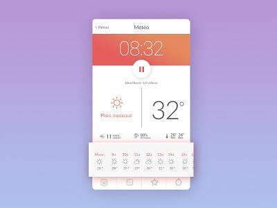 Meteo alarm design ui app weather