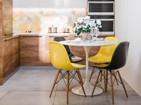 Small yellow kitchen design interior design 3d kitchen interior