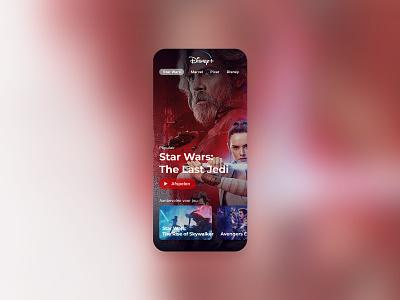 Disney+ ios app mobile app mobile design starwars figma disney ux ui