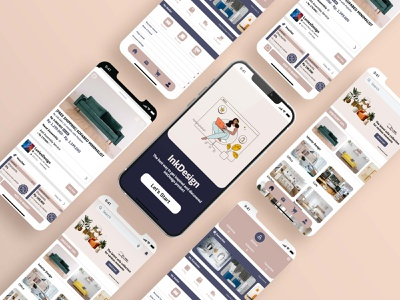 Furniture App Designs mobile graphic design clean icon app typography ux vector branding ui logo illustration design