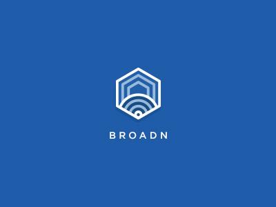 Broadn Logo broadn logo music blue hexagon community icon symbol